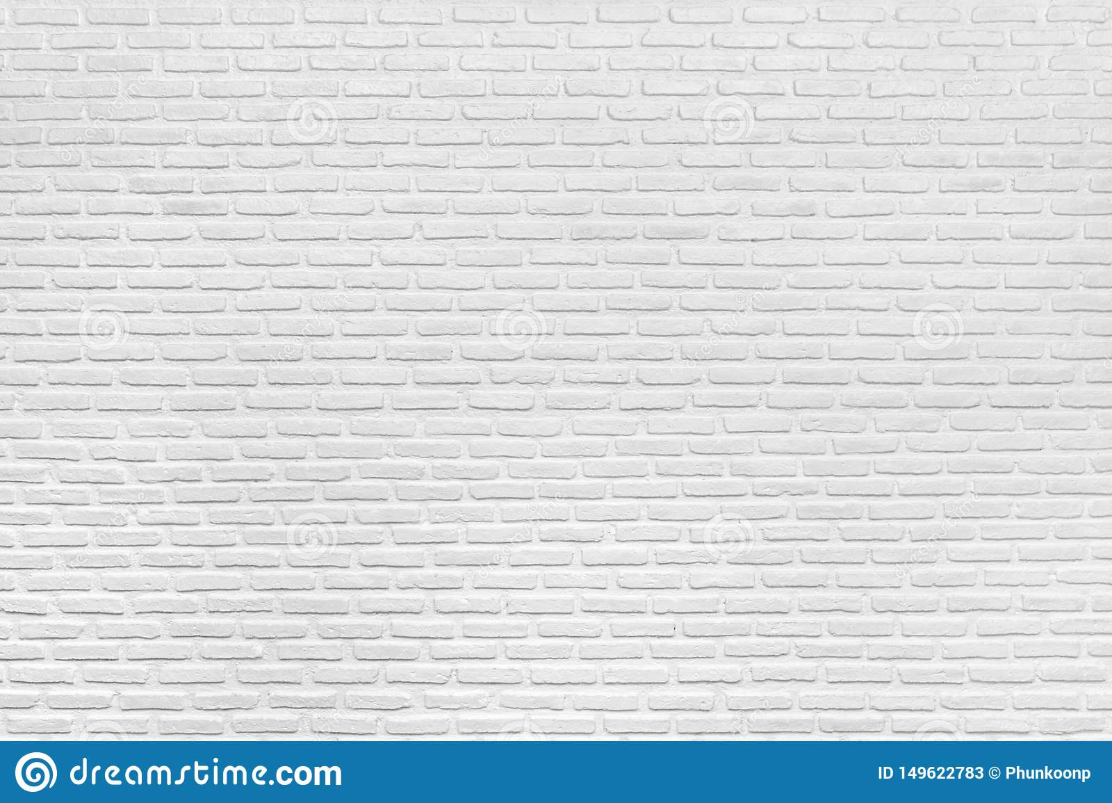Modern White Brick Wall Texture And Background Stock Image Image Of Decoration Effect 149622783