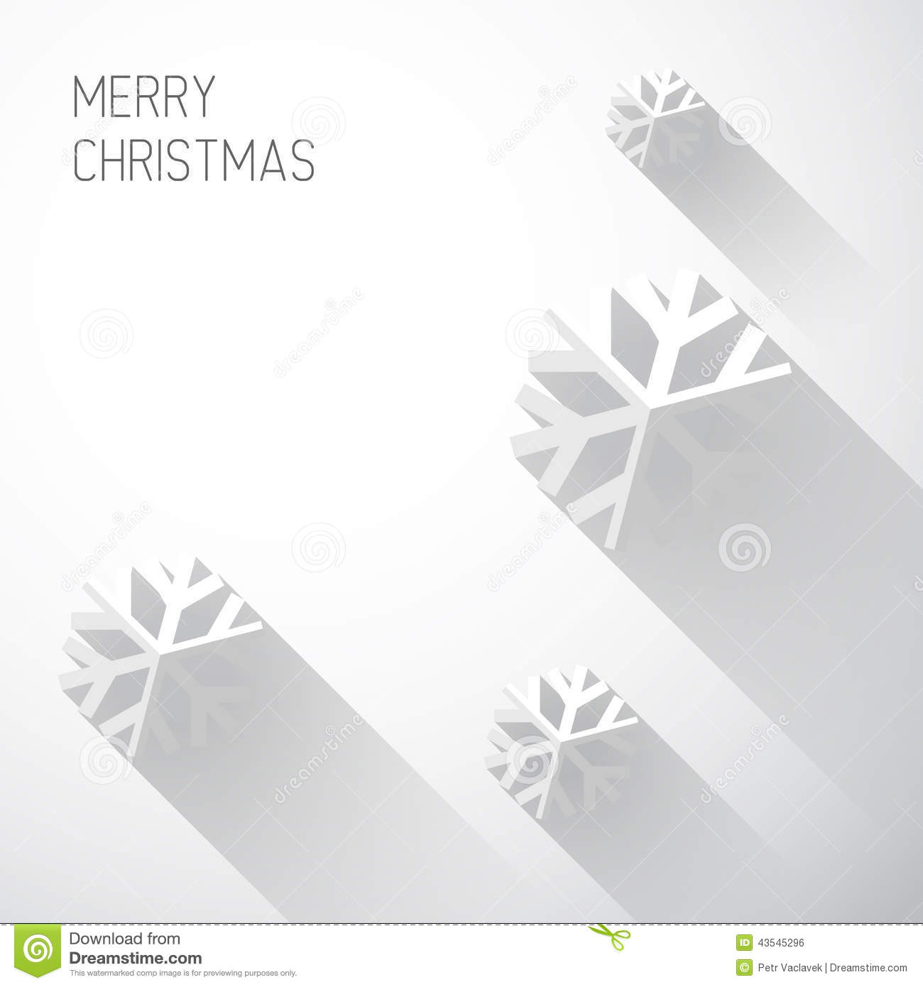 modern white christmas card with flat design stock vector