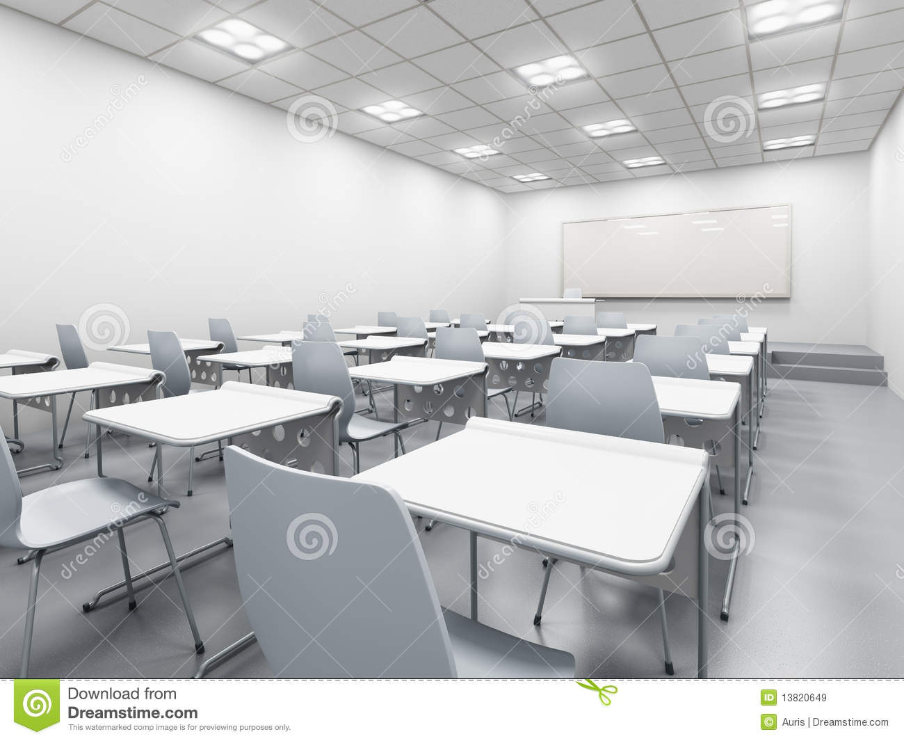 Modern Classroom Management ~ Modern white classroom royalty free stock images image