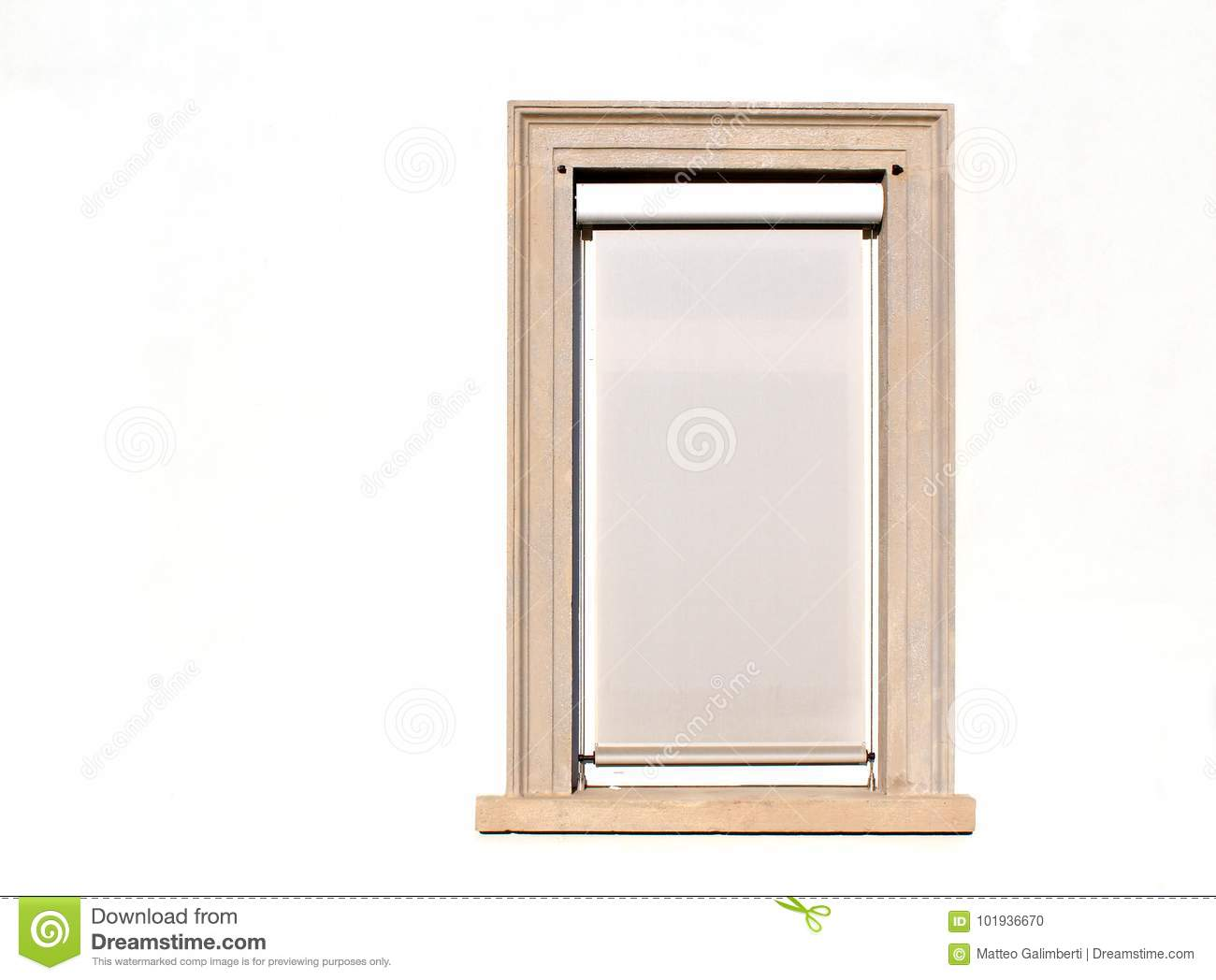 Modern White Closed Window On A Building Wall Stock Photo - Image of ...