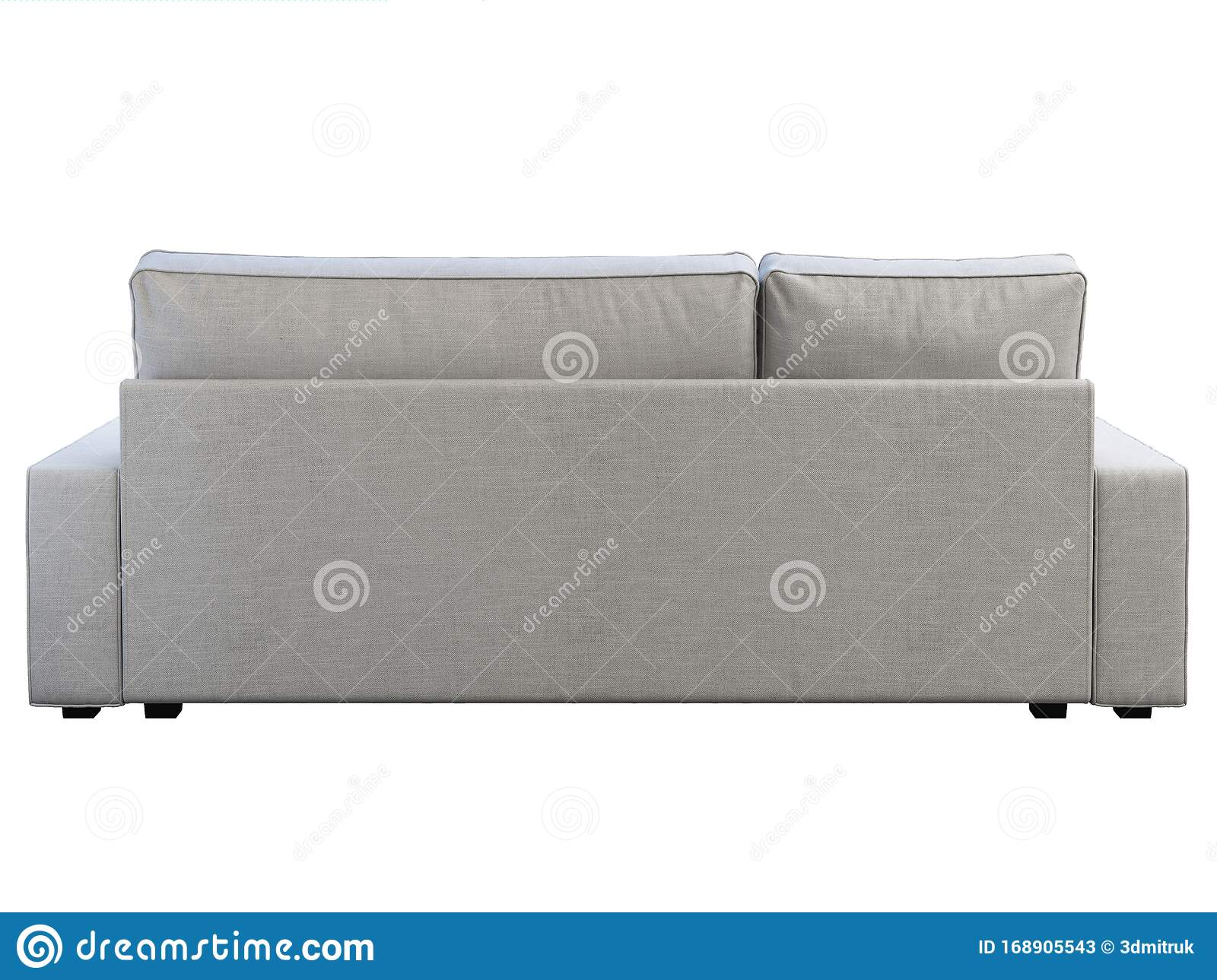 Modern White Fabric Sofa With Chaise Lounge 3d Render Stock Illustration Illustration Of Relax Isolated 168905543