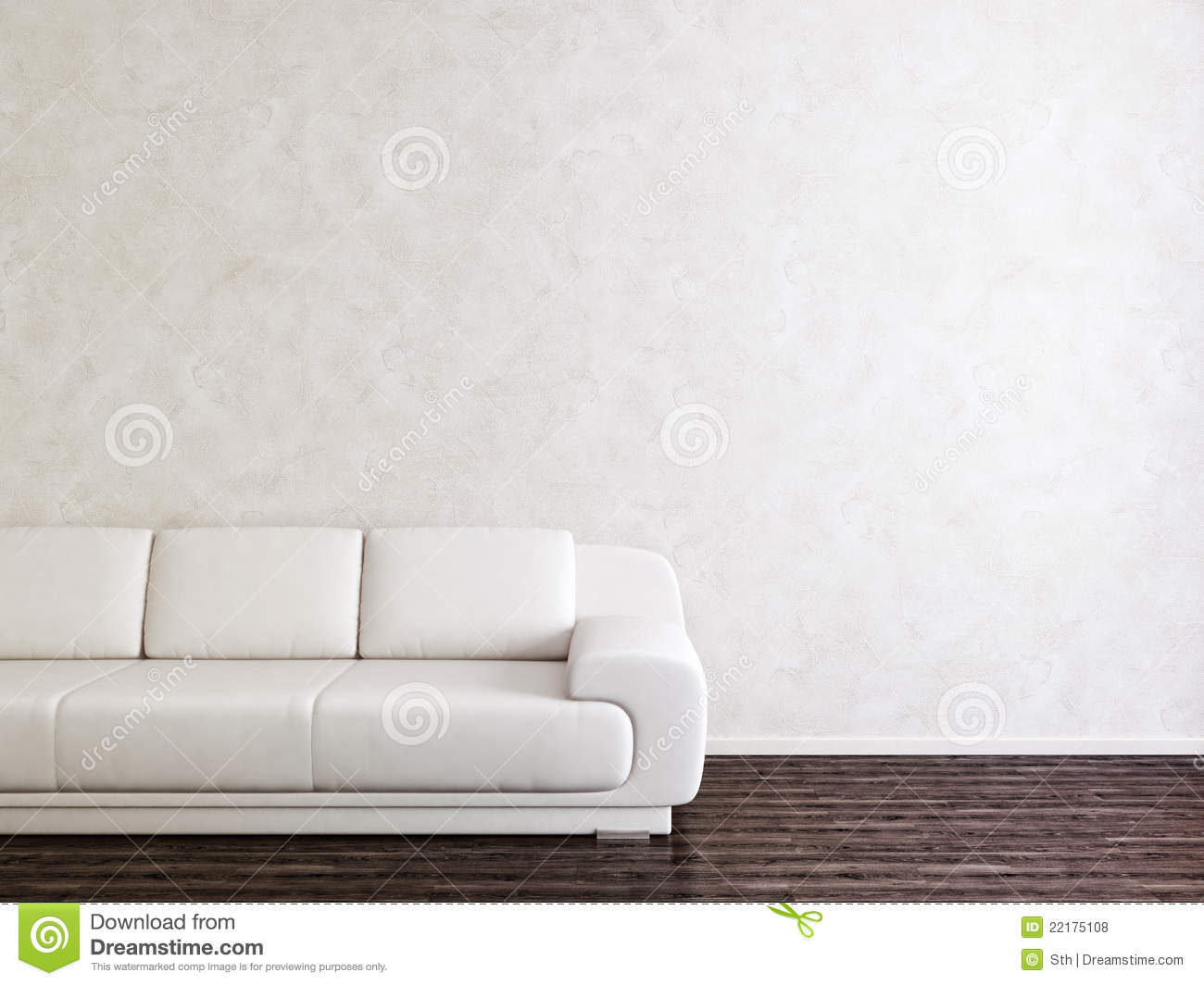 Modern White Interior Room stock illustration Illustration of