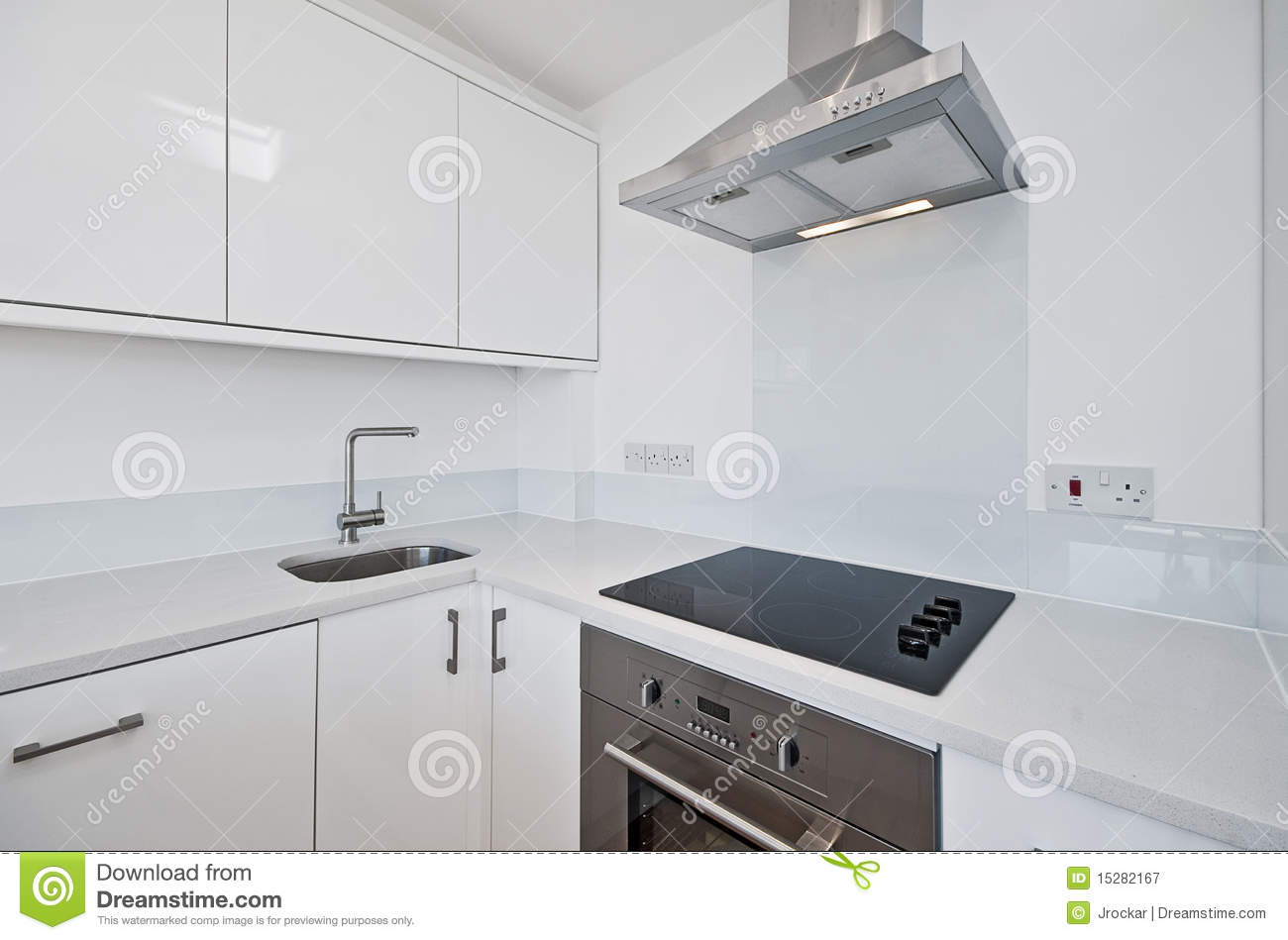 White Kitchen Modern Modern White Kitchen Royalty Free Stock Photography Image 15282167