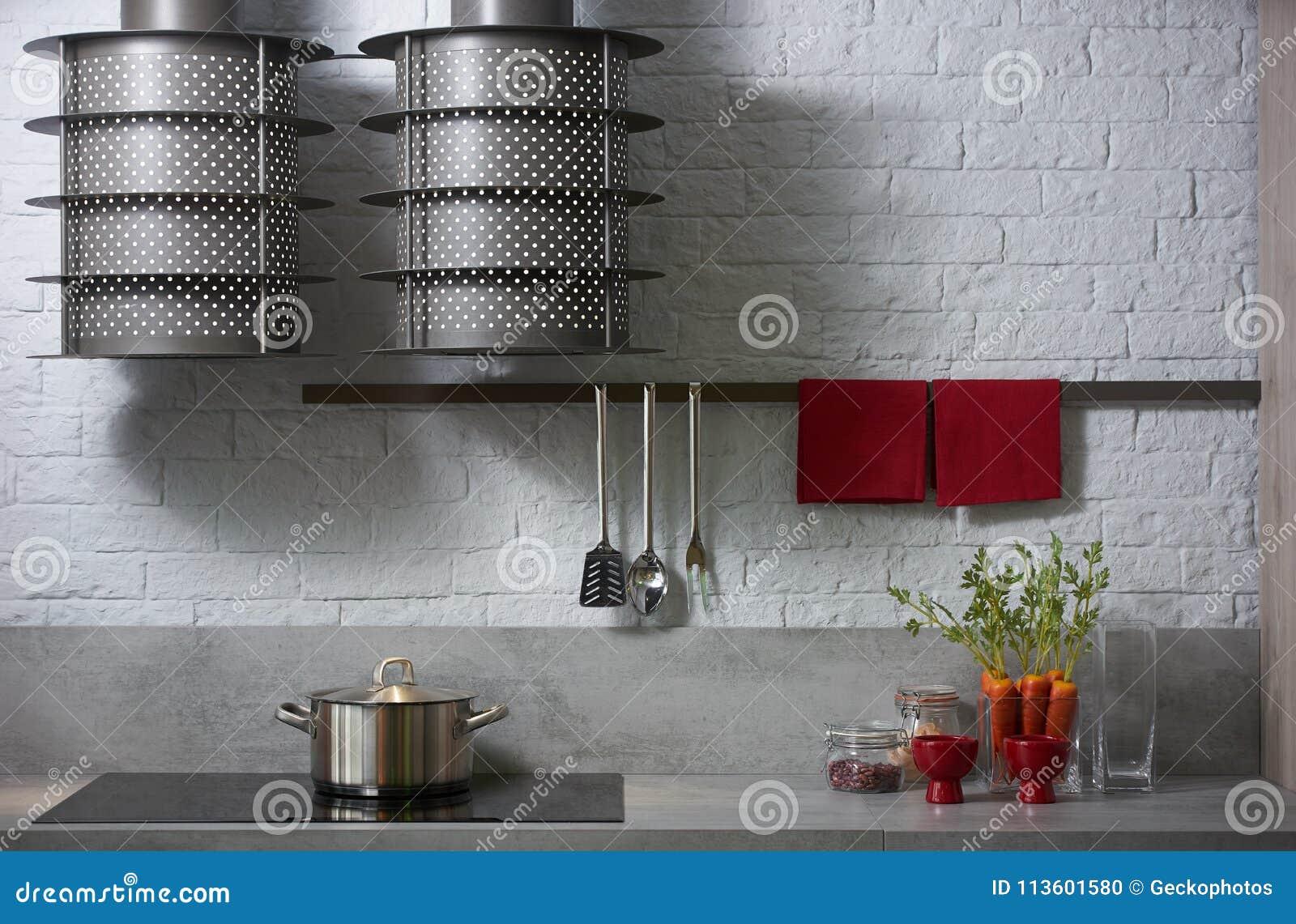 Modern White Kitchen Interior Design Stock Photo Image Of Home