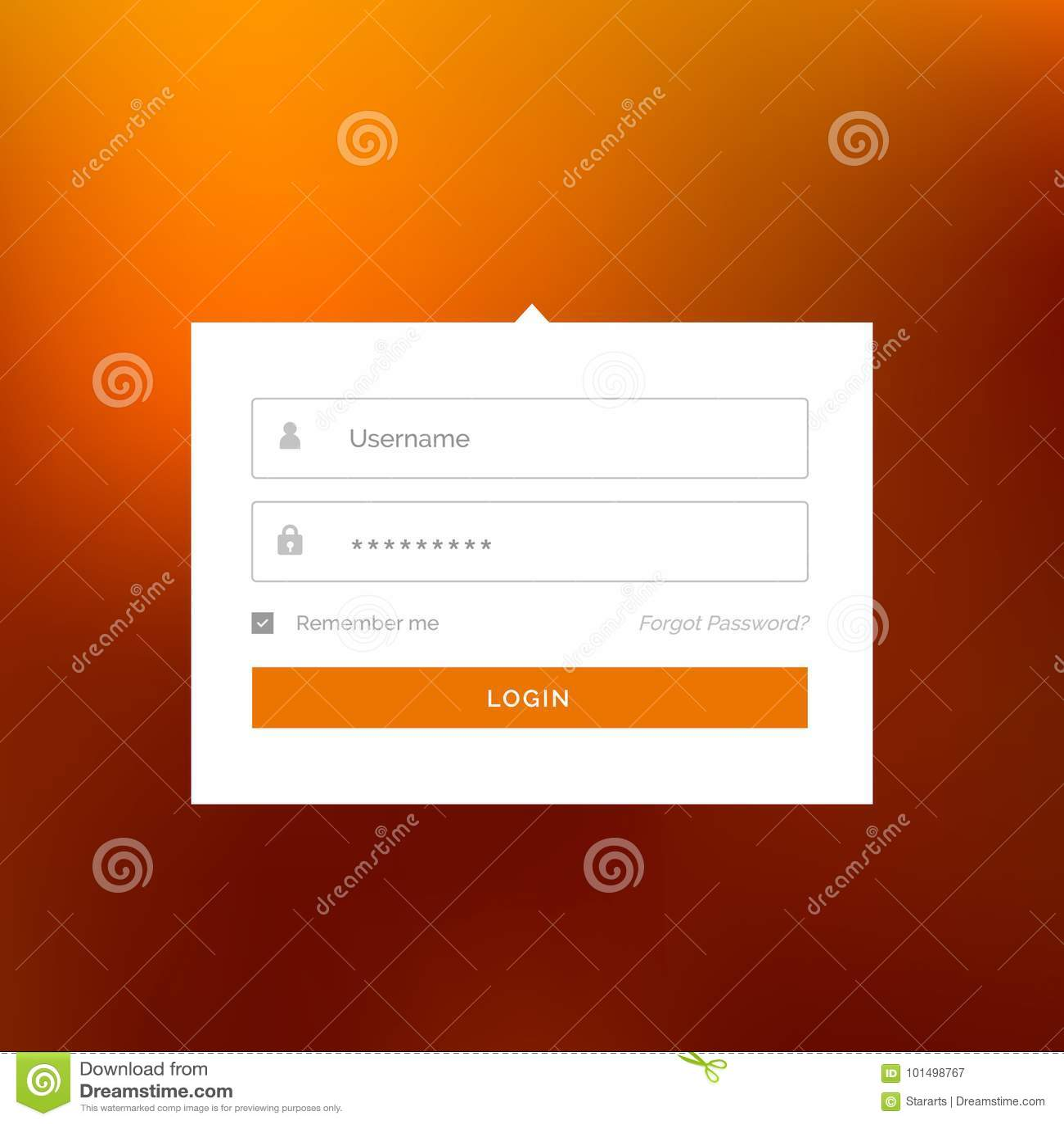 Modern white login user interface form design vector template stock download modern white login user interface form design vector template stock vector illustration of registration maxwellsz