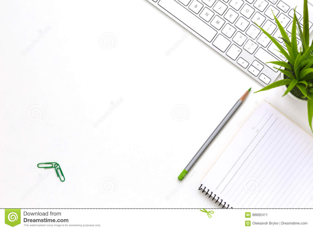 Office Desk Flat Lay Stock Image Cartoondealer Com