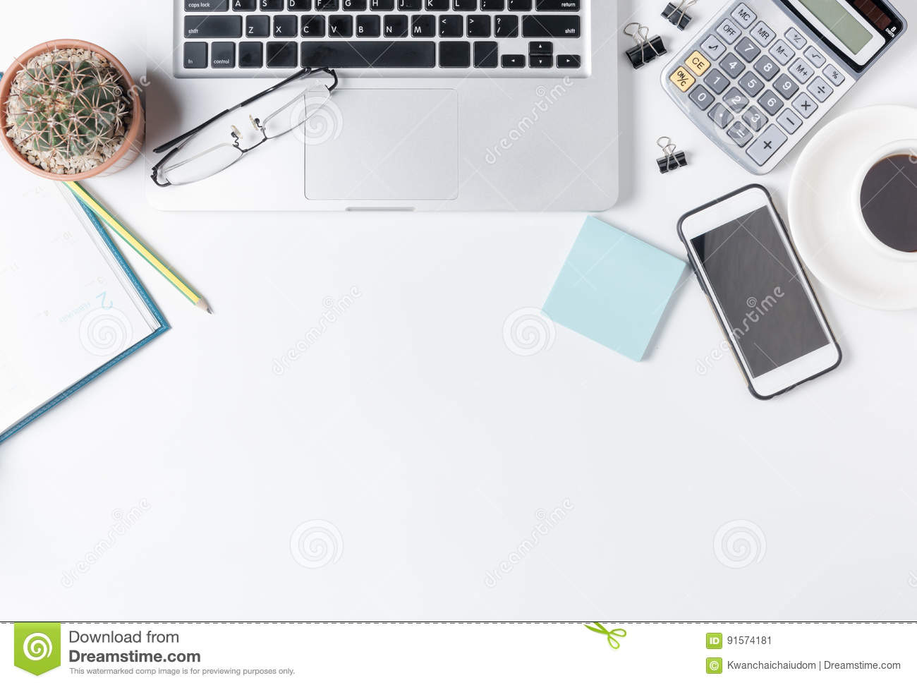 Modern White Office Desks For Modern White Office Desk Table With Laptop White Office Desk Table With Laptop Stock Image Of