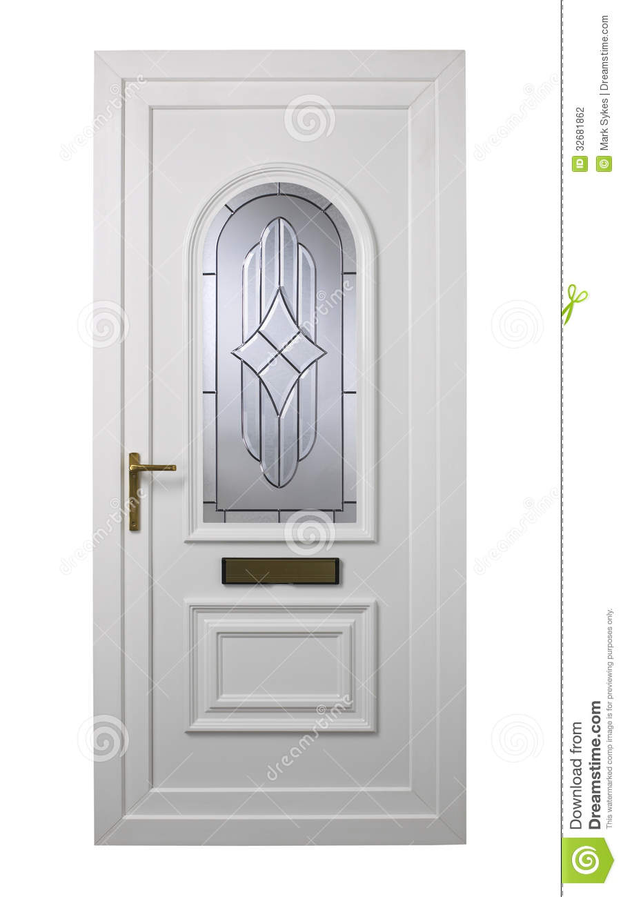 Modern White Pvc Door Stock Photo Image Of Isolated