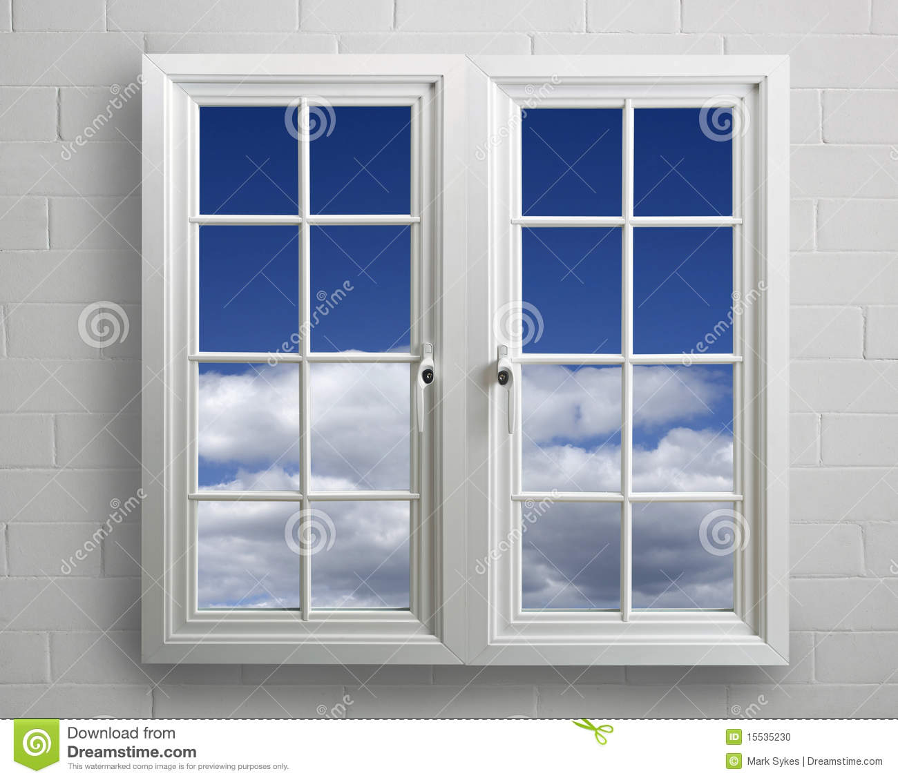 Modern White Pvc Window With View Of Blue Sky Stock Photo Image 15535230