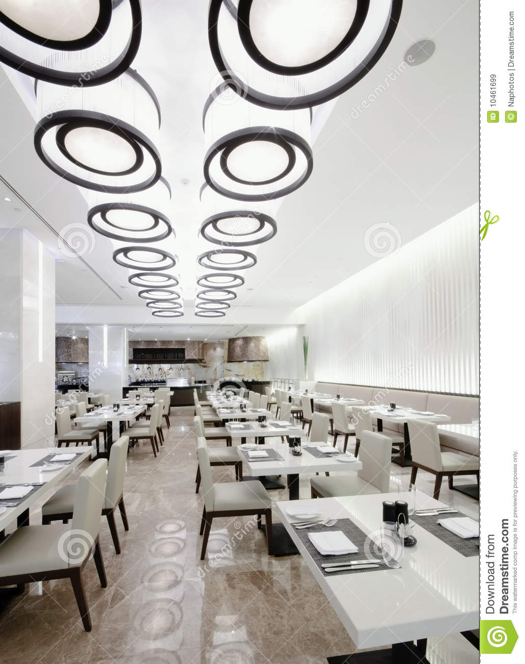 Modern white restaurant royalty free stock images image 10461699