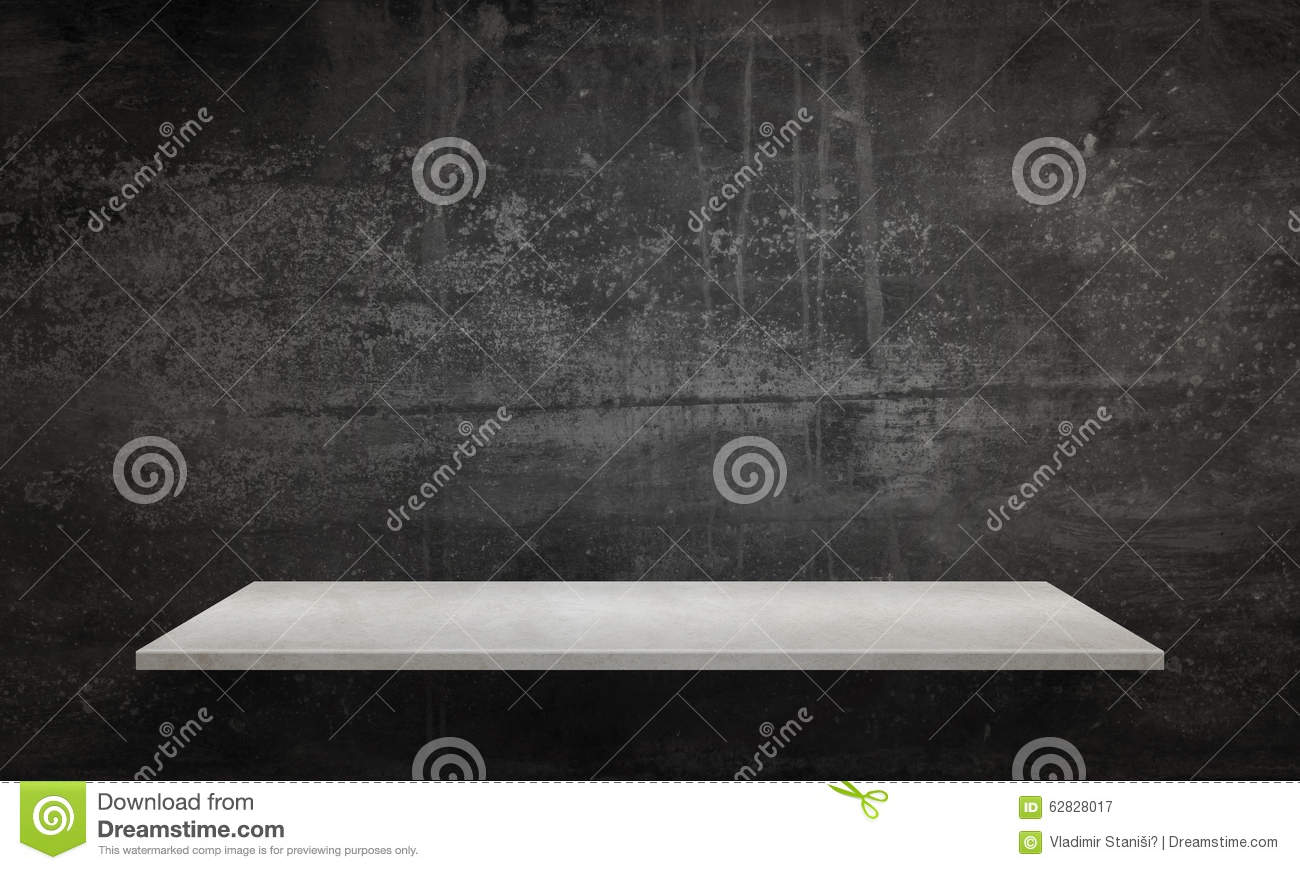 Beau Download Modern White Table With Legs And Free Space. Black Wall Texture In  Background Stock