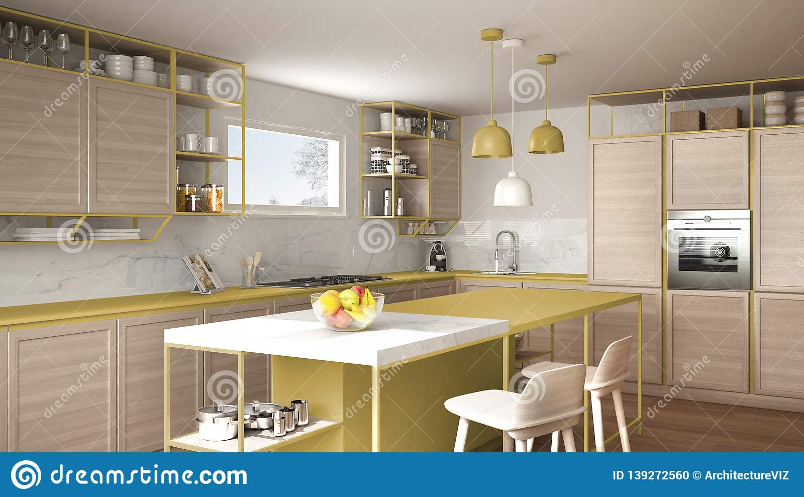 Yellow Kitchen Interior Stock Illustrations 3 569 Yellow Kitchen Interior Stock Illustrations Vectors Clipart Dreamstime