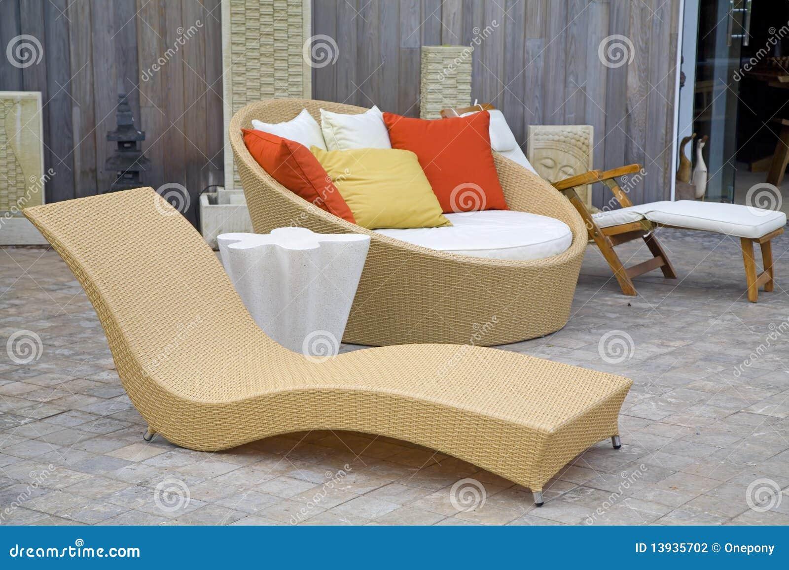 Modern wicker garden furniture stock photography image - Sofas de mimbre ...