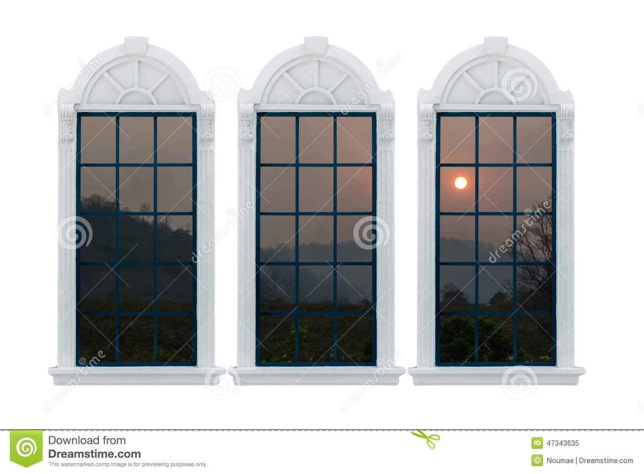 Modern window with clipping path stock illustration for Modern window design residential