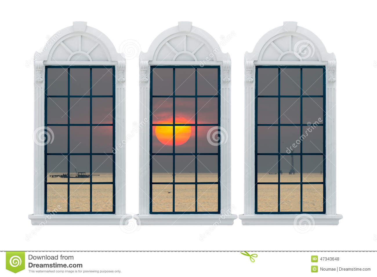 Modern window with clipping path stock photo image for Modern window design residential