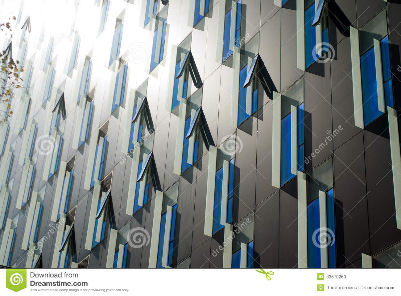 Modern windows design stock photo image of repetitive for Building window design