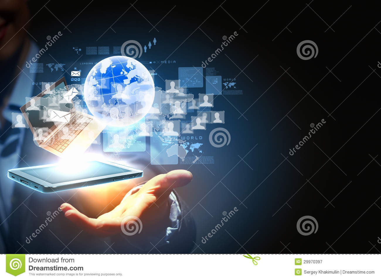 Download Modern Wireless Technology And Social Media Stock Image - Image of book, handheld: 29970397