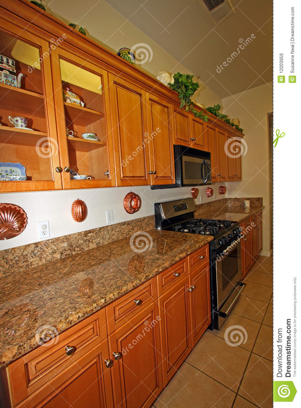 Cabinets Granite Kitchen Microwave Modern Wood ...