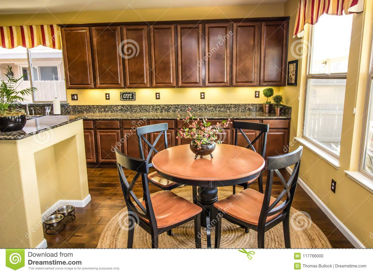 Modern Kitchen Table Chairs Stock Photo Image Of Decorated