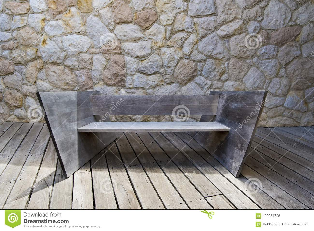 Fantastic Modern Wooden Bench Stock Photo Image Of Garden Frankydiablos Diy Chair Ideas Frankydiabloscom