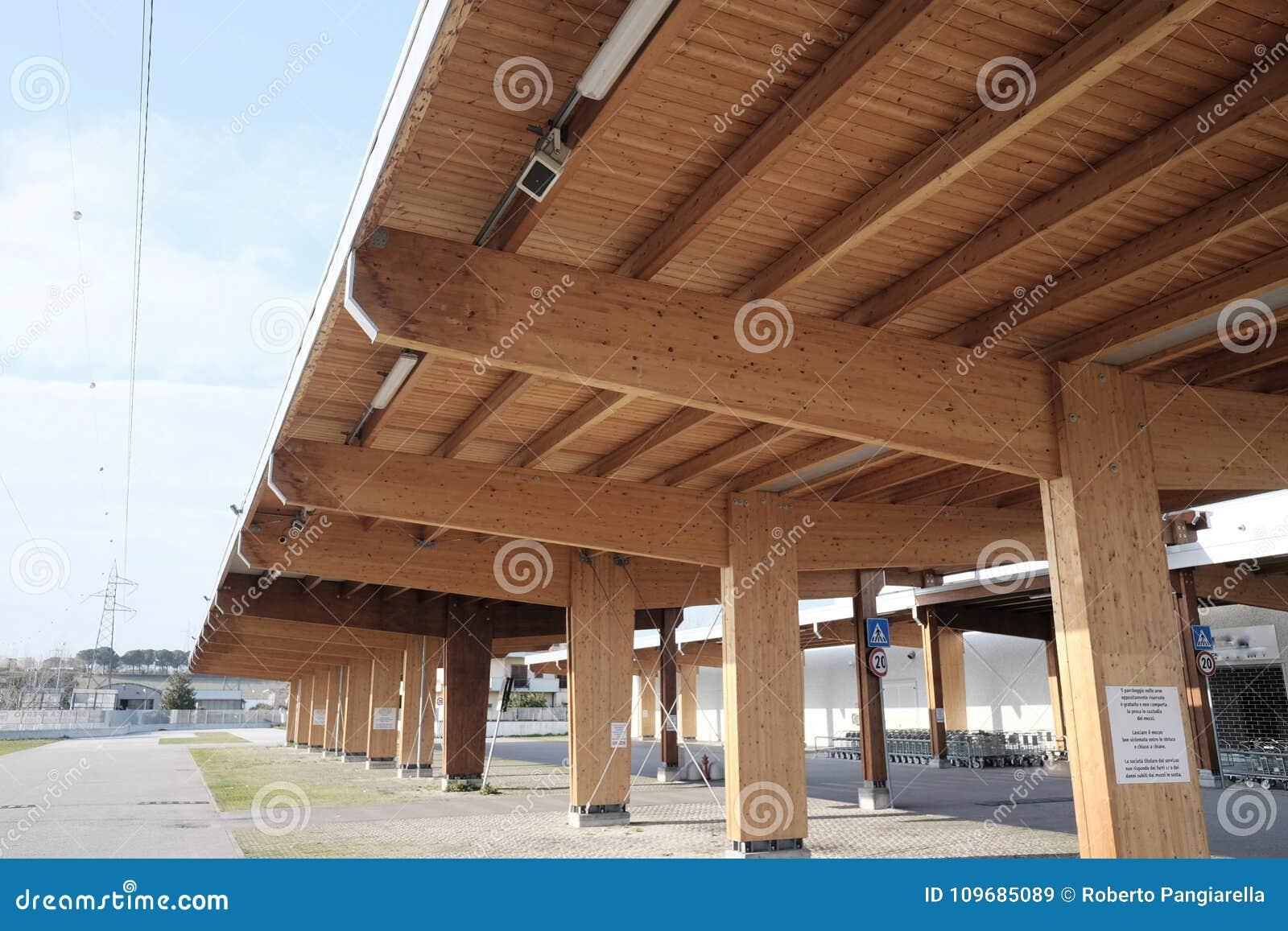 Modern wooden carport day architecture & Modern wooden carport stock image. Image of wood construction ...
