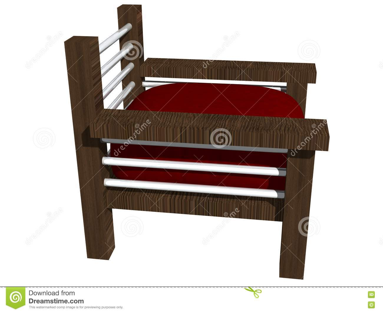 Royalty Free Stock Images: Modern wooden chair side view ...