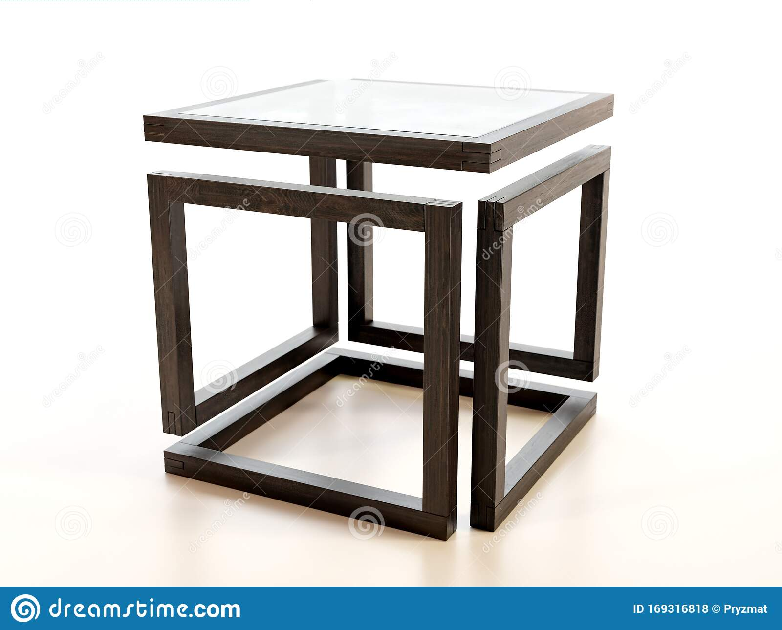 Picture of: Modern Wooden Coffee Table With Glass Tabletop Stock Illustration Illustration Of Lifestyle Elegant 169316818