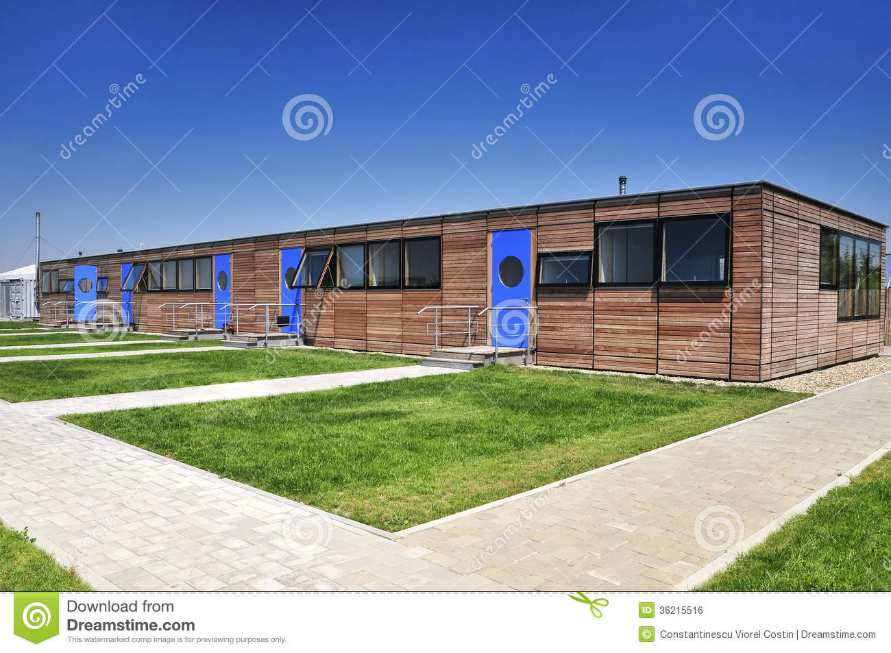 Modern wooden house facade stock photo image of house for Jc house architecture modern facade