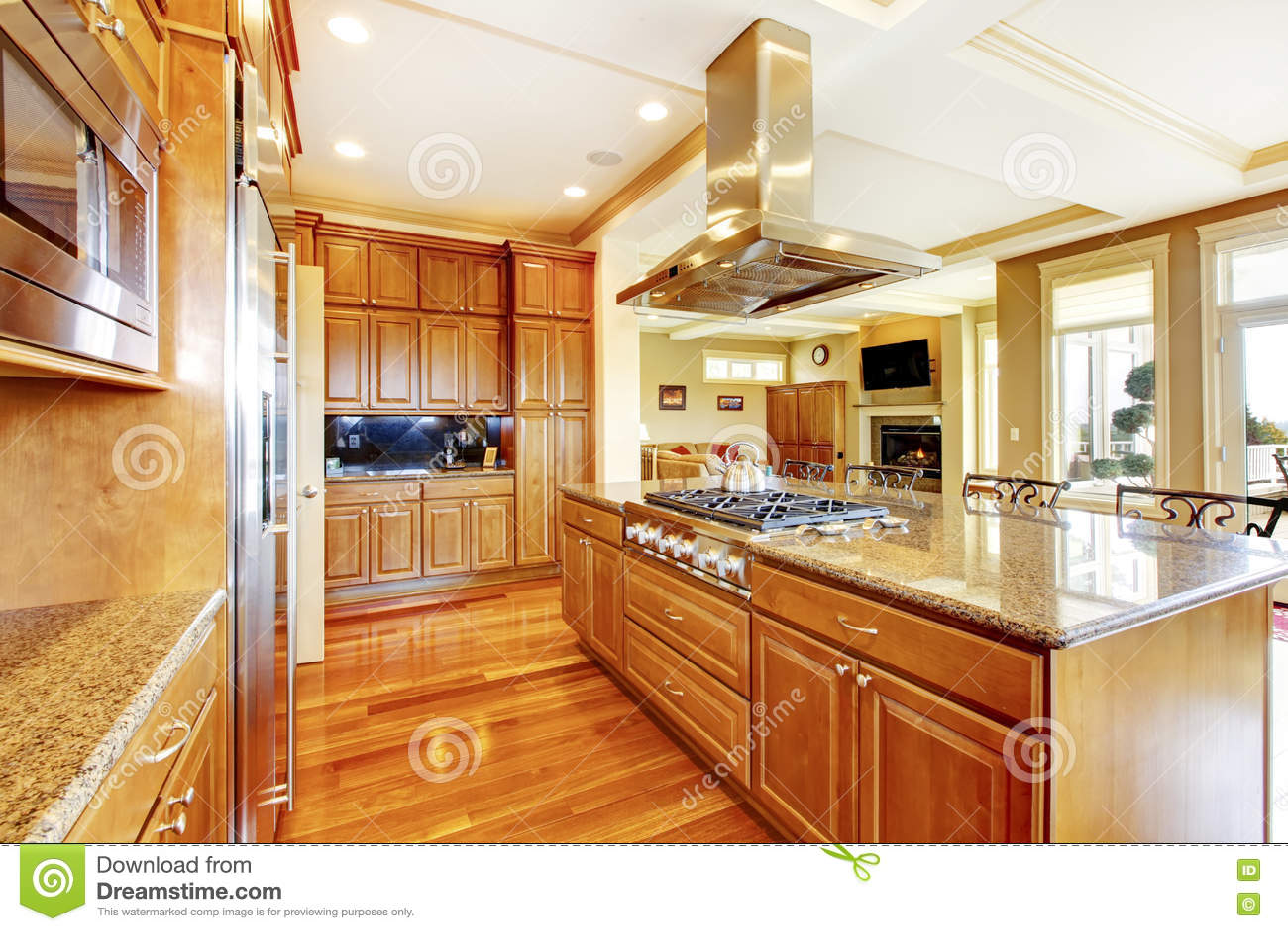 Modern Kitchen Island Royalty Free Stock Image
