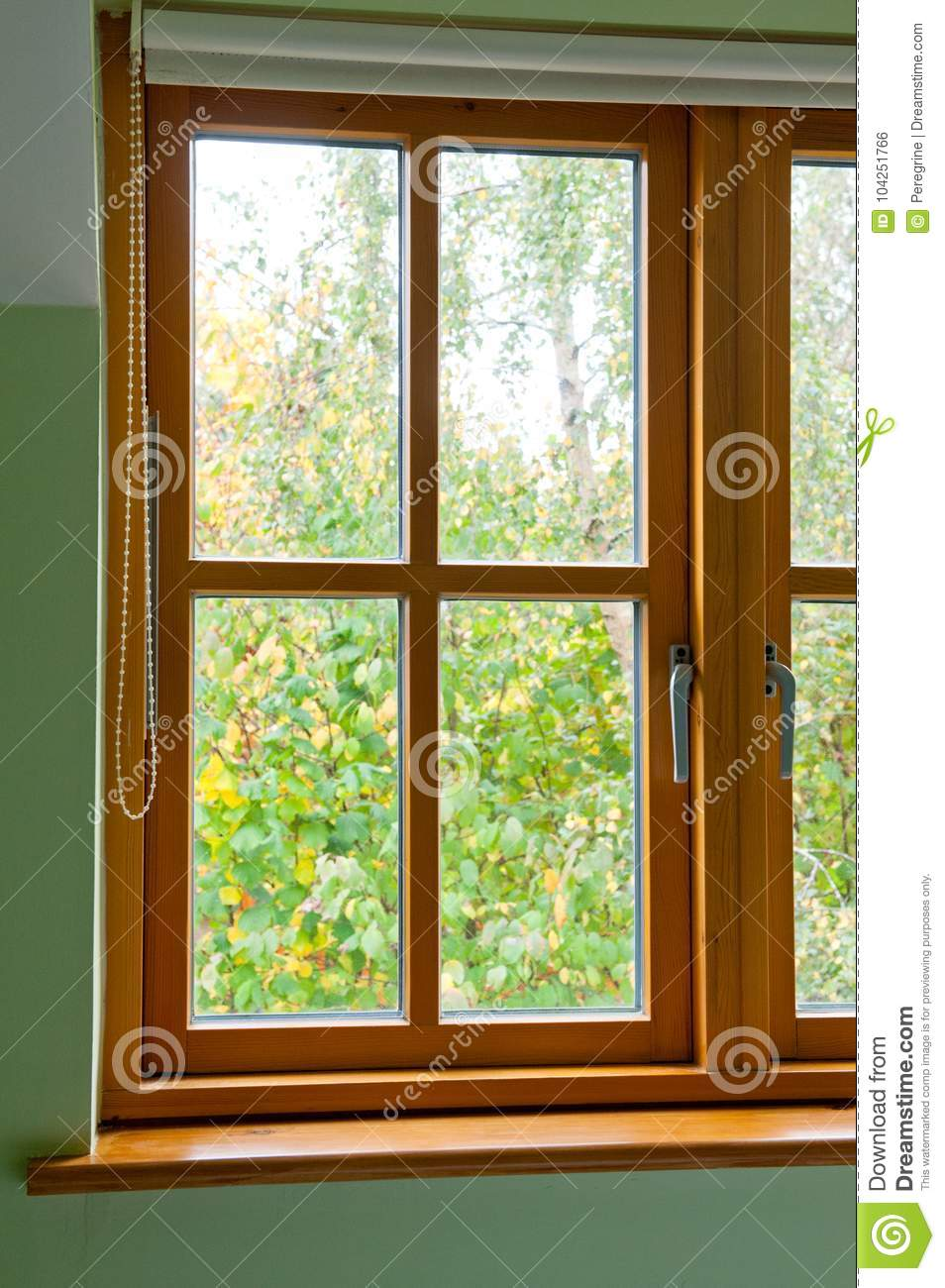 Business Design A House And Window: Modern Wooden Window Stock Photo. Image Of Design, Real