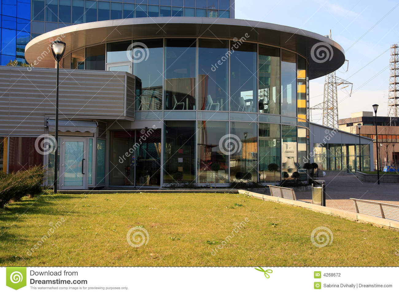 Modern Work Quarter Buildings Stock Photography Image