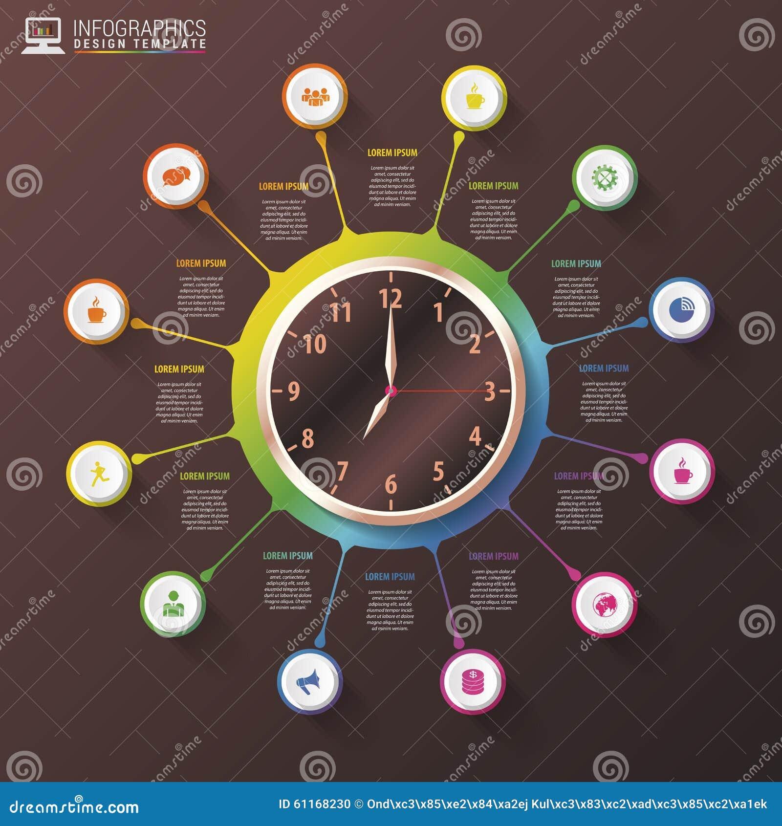 Modern Work Time Management Planning Infographics Luxury Design