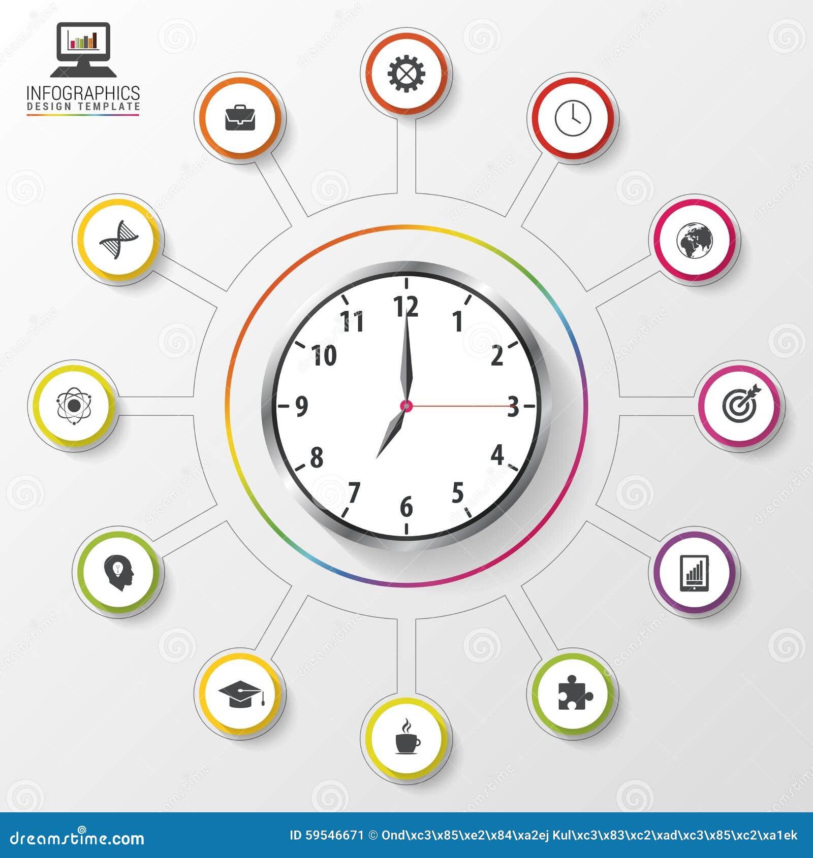 Modern Work Time Management Planning. Infographic Design Template ...