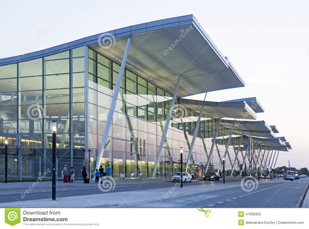 Modern Wroclaw Airport Terminal Editorial Stock Photo ...