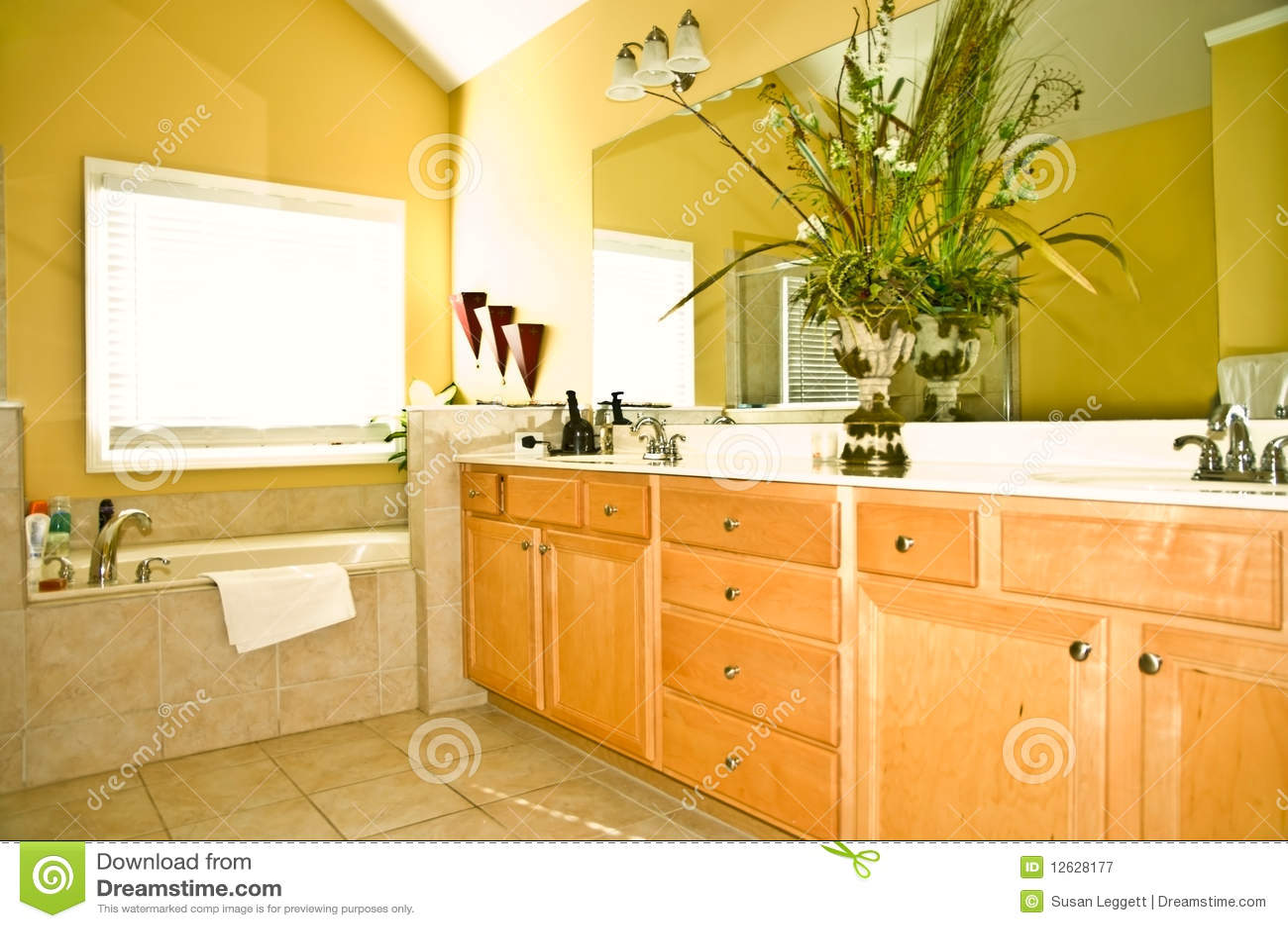 Modern yellow bathroom stock image image of house bath for Modern yellow houses