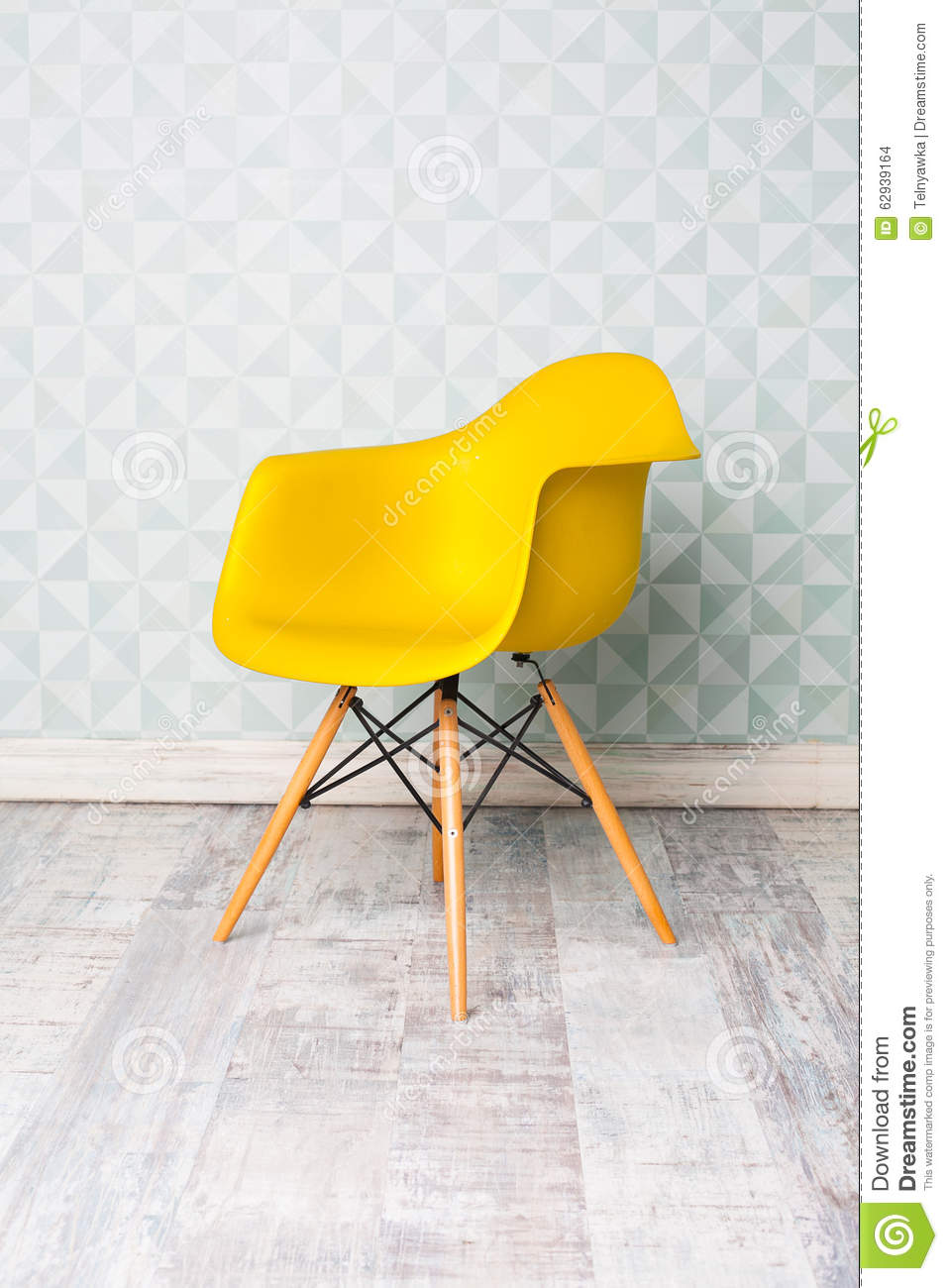 Modern Yellow Chair Stock Photo Image Of Contemporary 62939164