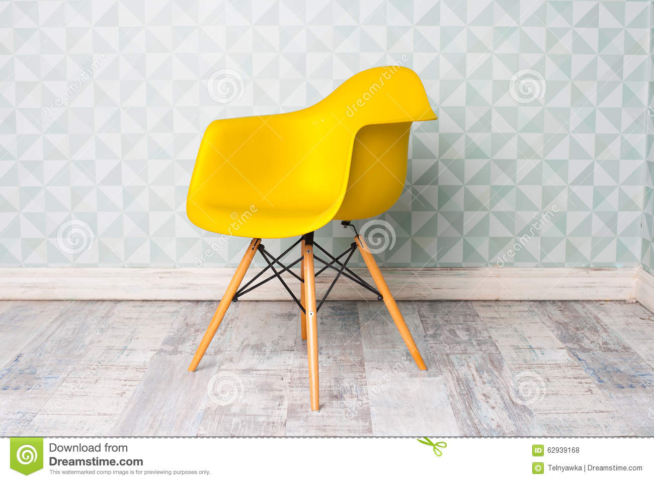 Modern chair royalty free stock image - Gelbe couch ...