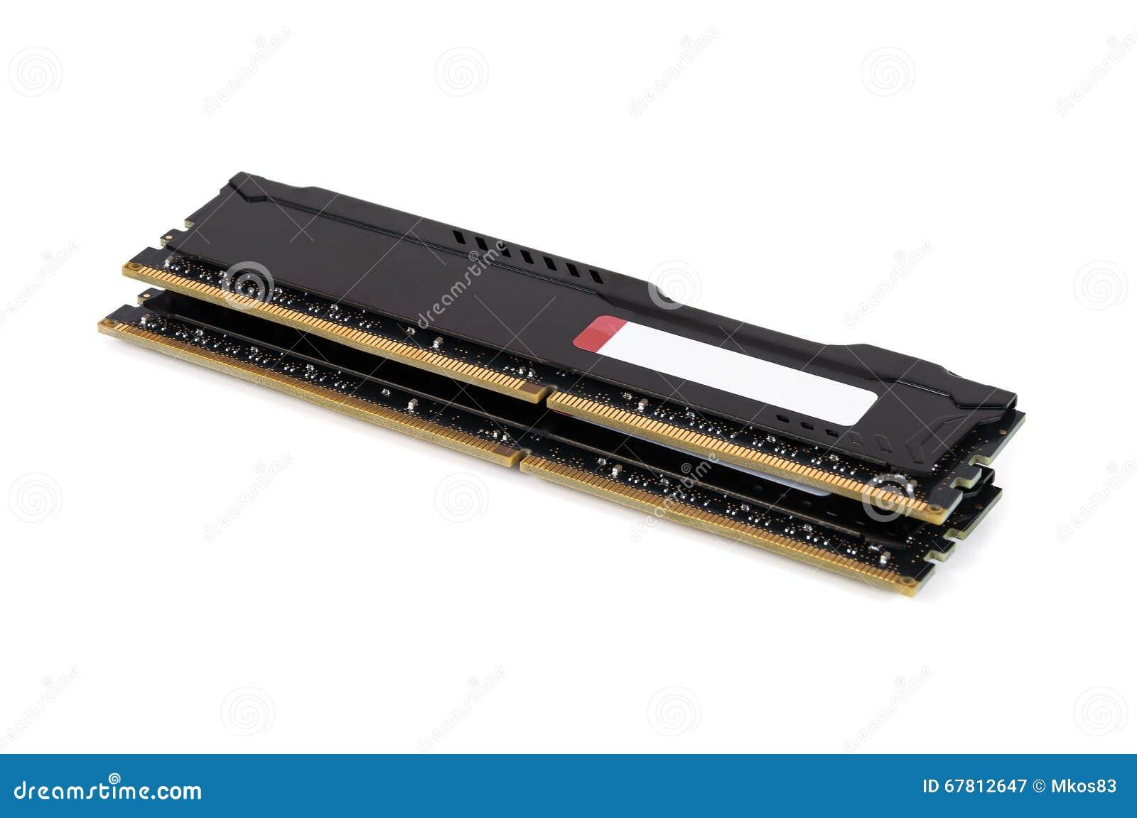Moderna enheter för RAM minne med det svarta elementet