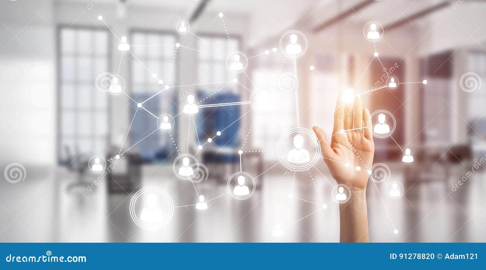 Moderna trådlösa teknologier för affär och förbindande folk över hela världen