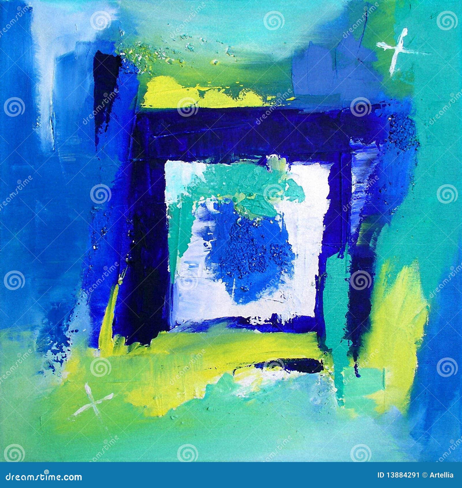 Afbeelding moderne abstracte kunst die schildert achtergrond