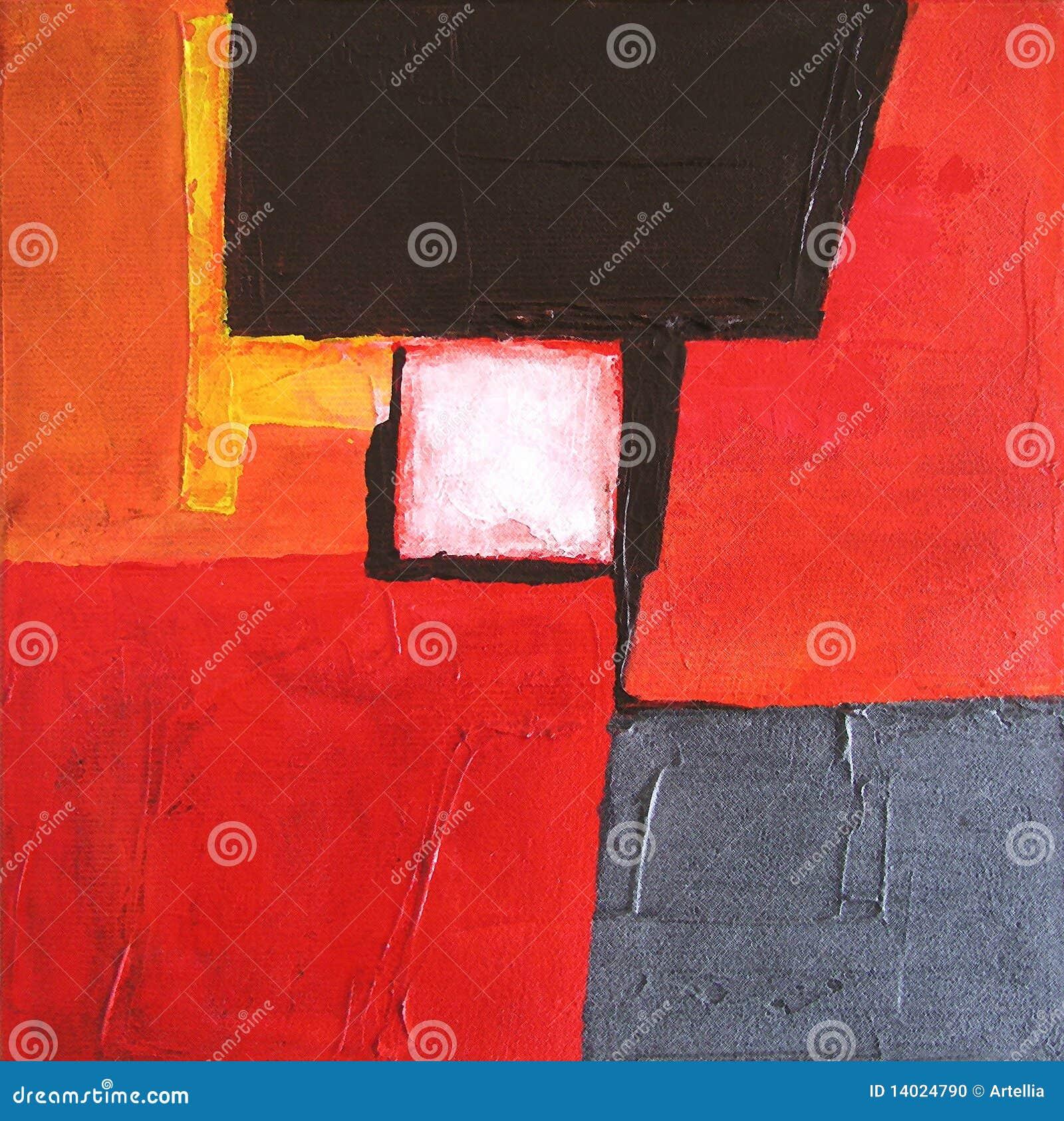 Moderne Abstracte Kunst die - schildert - Achtergrond