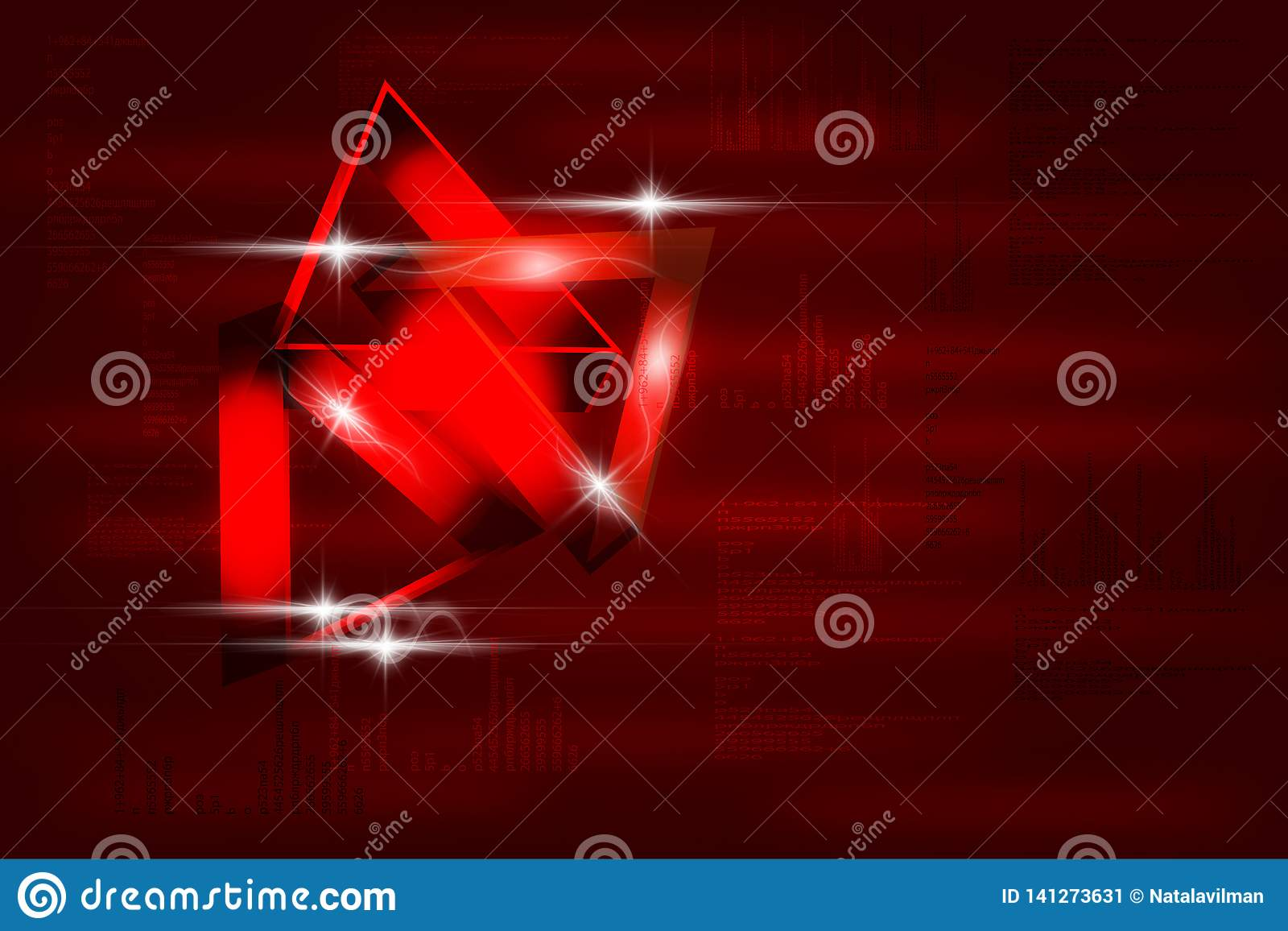Moderne abstracte rode achtergrond in technostijl