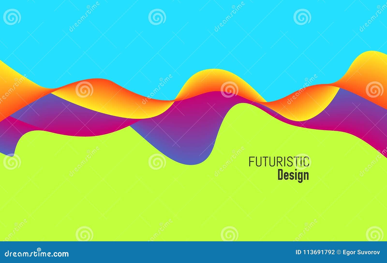 Moderne achtergrond met dynamisch effect Helder ontwerp met in kleuren Kleurrijk concept voor website, affiche