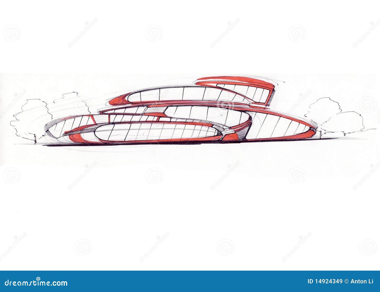 Moderne architektur stock abbildung illustration von - Architektur skizze ...
