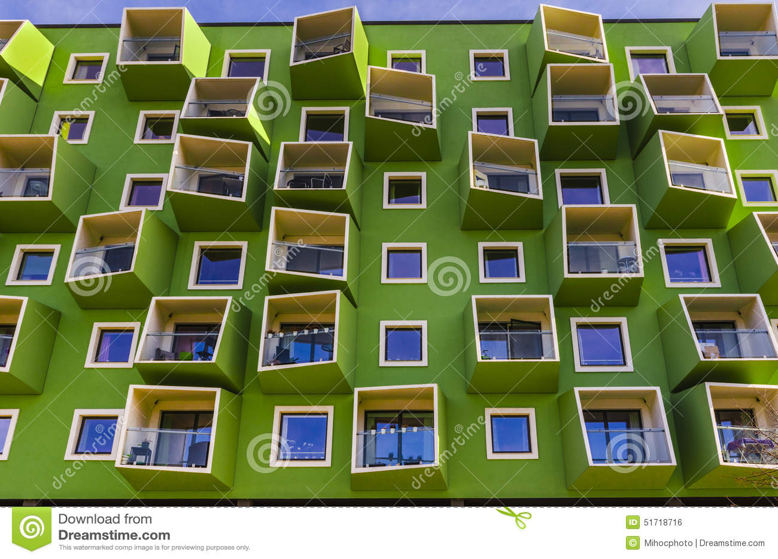 moderne architektur stockfoto bild 51718716. Black Bedroom Furniture Sets. Home Design Ideas