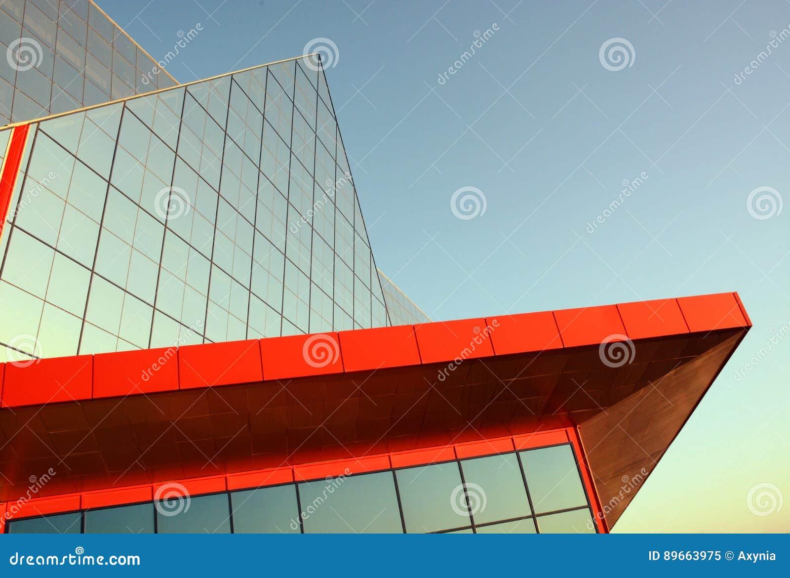 Moderne Architektur Gebaude In Der High Techen Art Stockbild Bild
