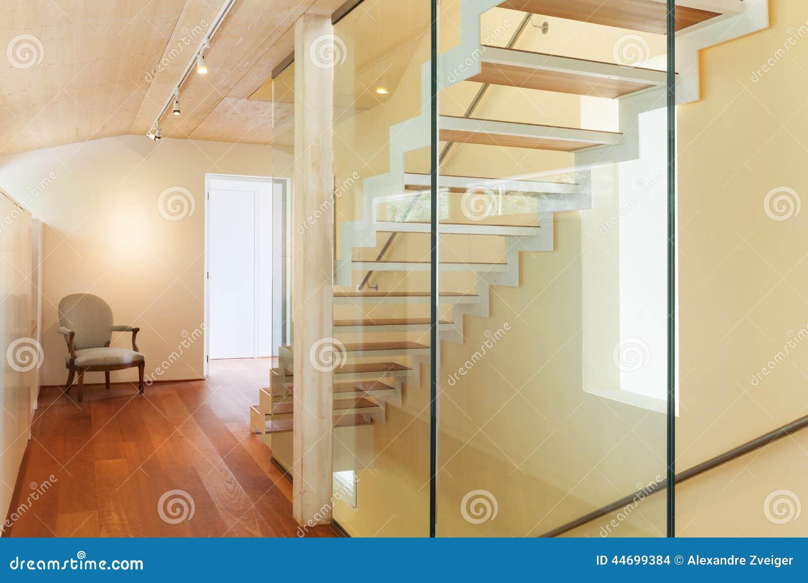 Moderne Architektur Innenraum Treppenhaus Stockfoto Bild Von
