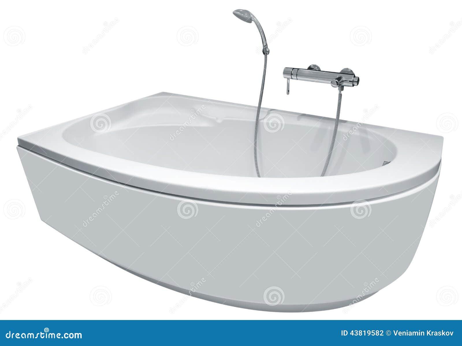 moderne badewanne mit dusche stockfoto bild von. Black Bedroom Furniture Sets. Home Design Ideas