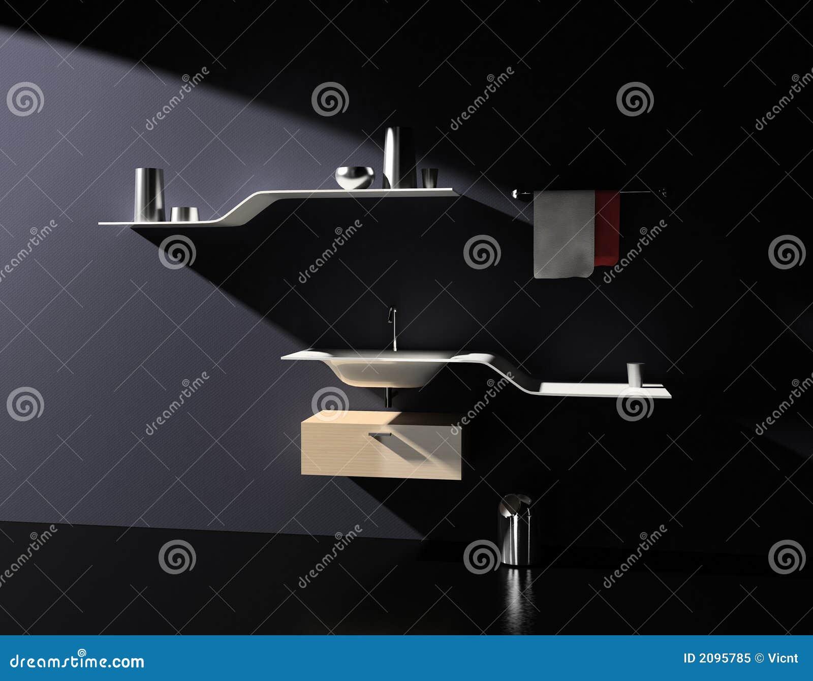Moderne Badezimmermobel Stock Abbildung Illustration Von Dunkel