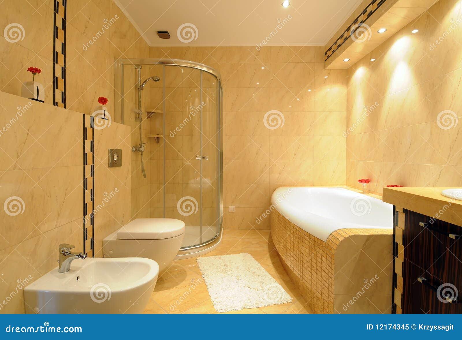 Moderne badkamers royalty vrije stock foto afbeelding 12174345 for Moderne badkamers